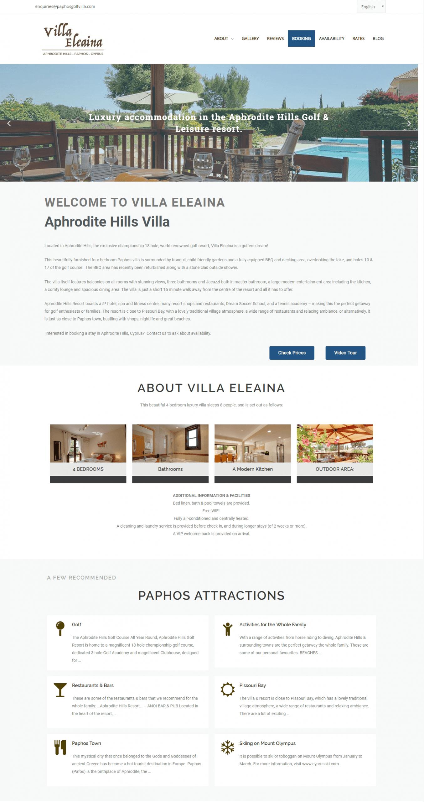 Private Villa Website