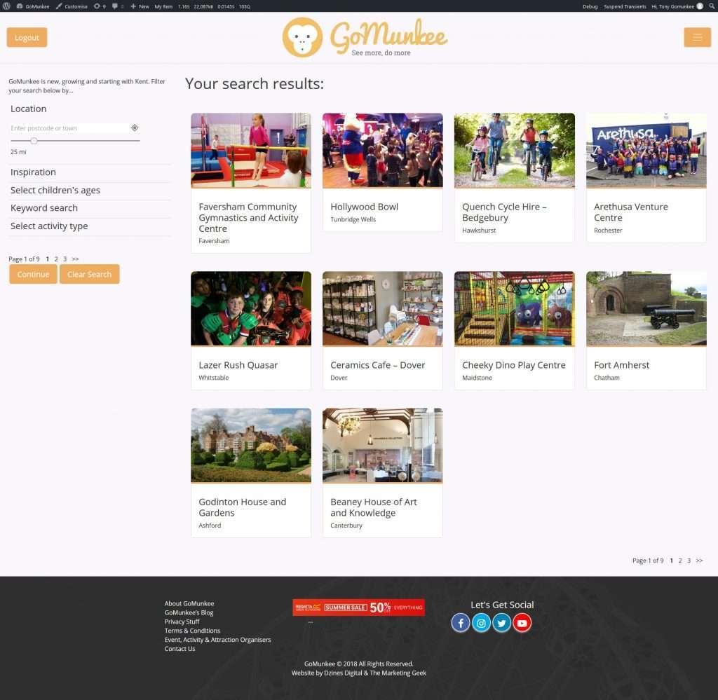 GoMunkee – Directory Web App Development